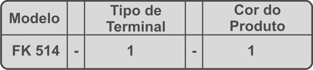 Tomada Tripolar padrão Brasil 10A FK 514